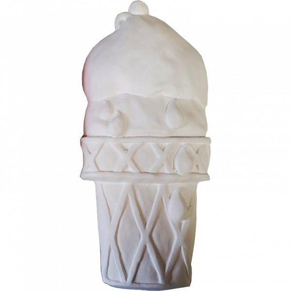 Plaster Paint Ice Cream Cone