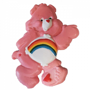Rainbow Bear Plaster Painted