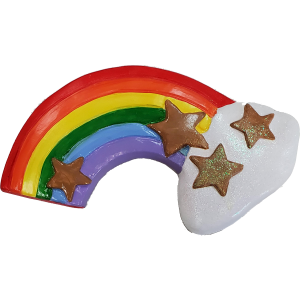 Rainbow Plaster Painted
