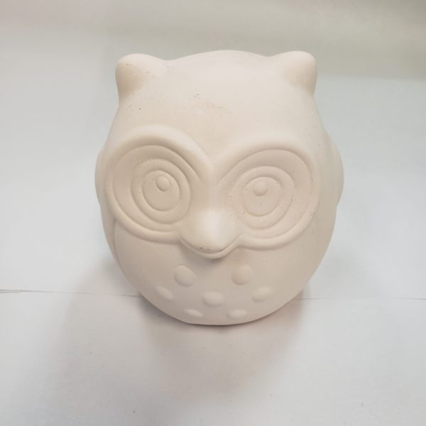 Plaster Paint Owl Statue