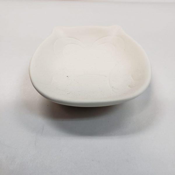 Plaster Paint Owl Dish