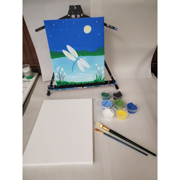 Dragonfly Canvas Art Kit
