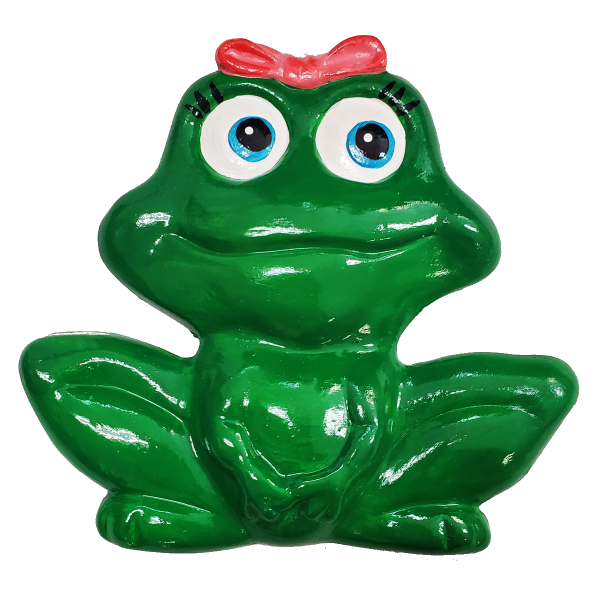 Lady Frog Plaster Painted