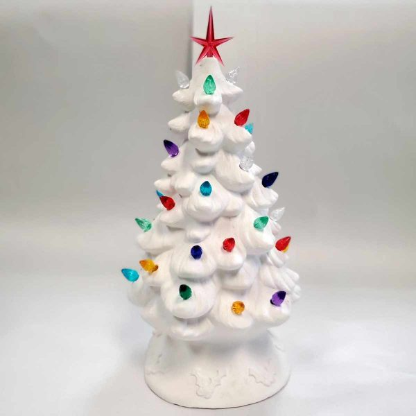 Plaster Paint Light Up Christmas Tree
