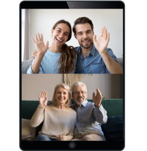 Grandma, Grandpa, Aunt, Uncle Join Virtual Party