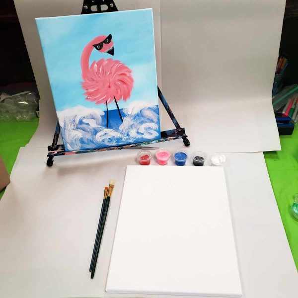 Flamingo Canvas Paint Art Kit
