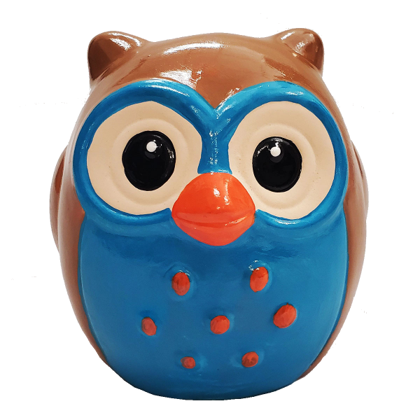 Owl Statue Painted