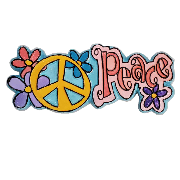 Groovy Peace Sign Painted