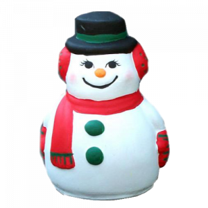 Snowman Statue Painted