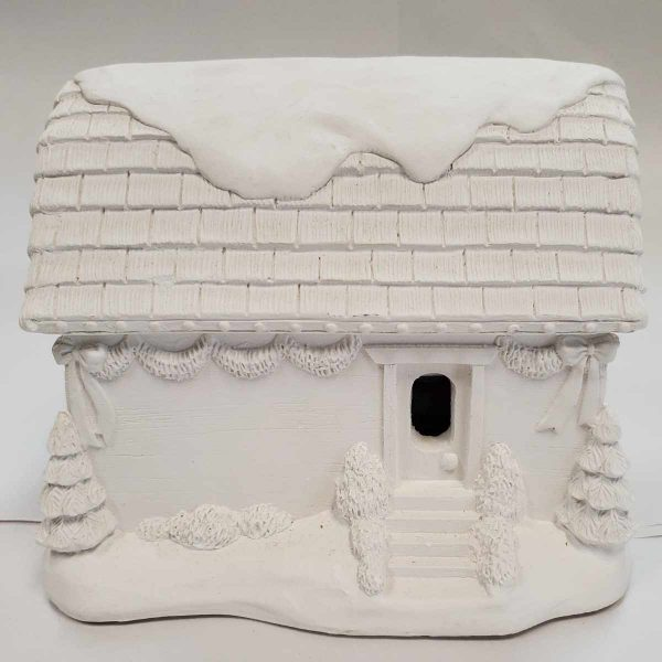 Plaster Paint Christmas Village House Rear