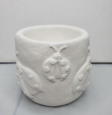 Plaster Paint Lady Bug Cup