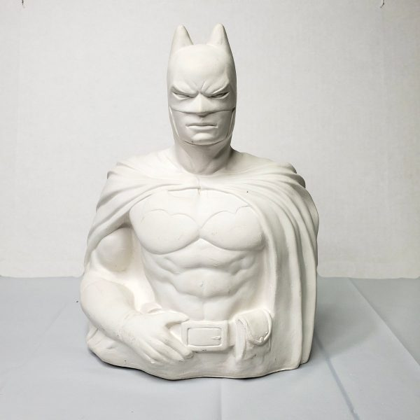 Plaster Paint Bat Hero Statue