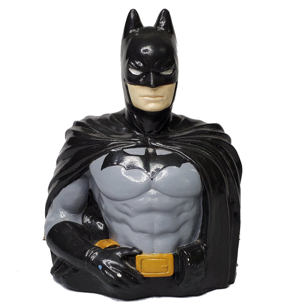 Bat Hero Statue Plaster Painted