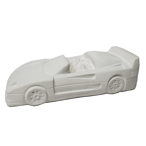 Plaster Paint Car Statue