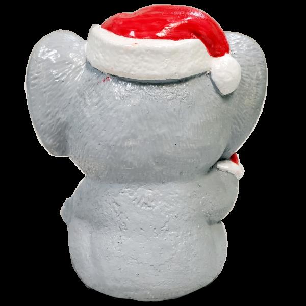 Christmas Koala Statue Painted Rear