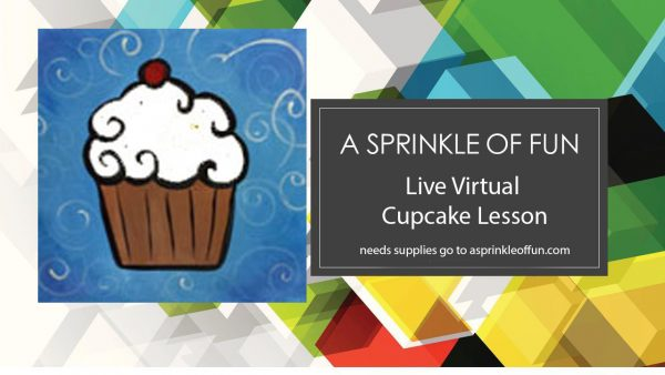 Cupcake Canvas Art Screen BG