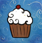 Cupcake Canvas Art