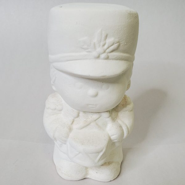 Plaster Paint Drummer Boy Statue