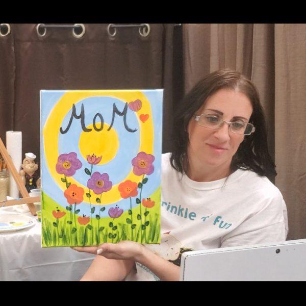 Mom Flowers Virtual Canvas Art Lesson