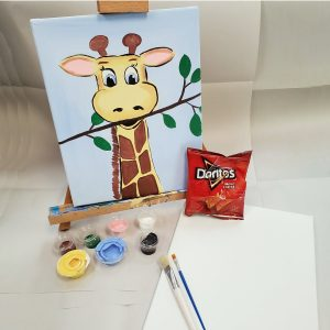 Giraffe Canvas Paint Art Kit