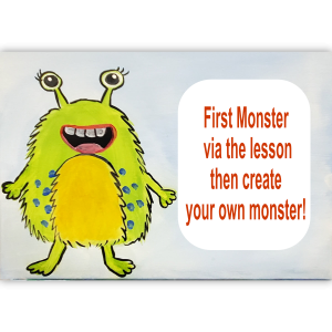 Create a Monster Canvas Art