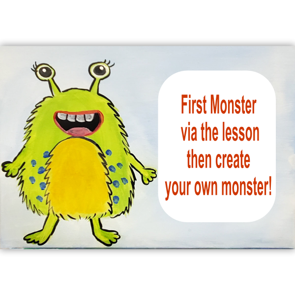 Create a Monster Canvas Art