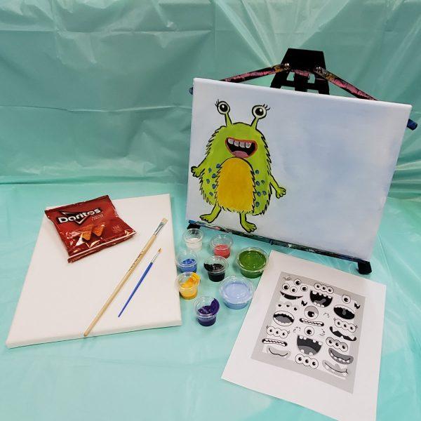 Create a Monster Canvas Paint Art Kit