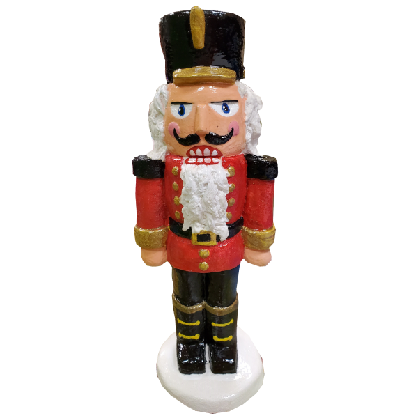 Nutcracker Statue Painted