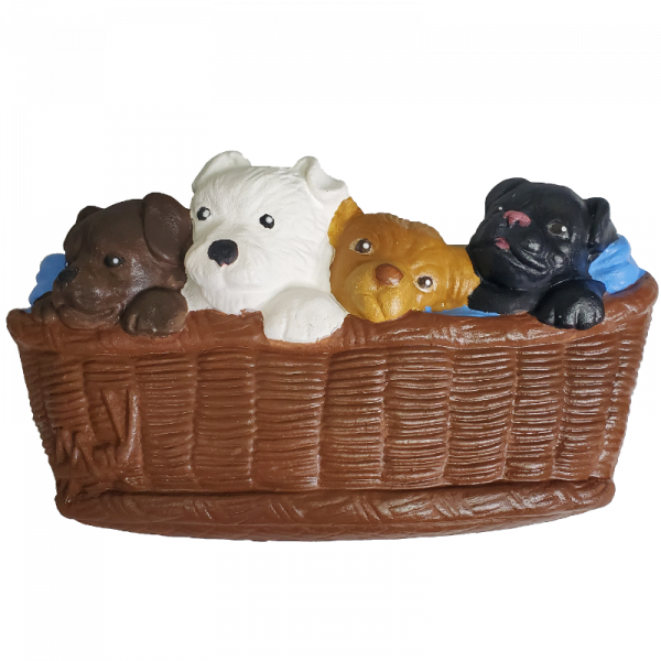 Puppies in a Basket Plaster Paint Kit