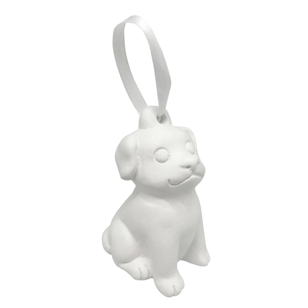 Puppy Dog Plaster Ornament