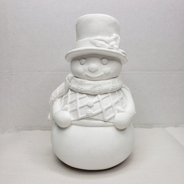 Plaster Paint Snowman Statue