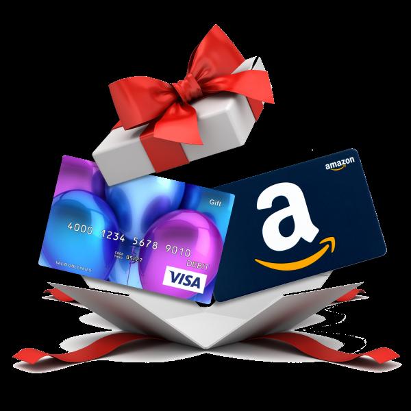 Amazon & Visa Gift Cards