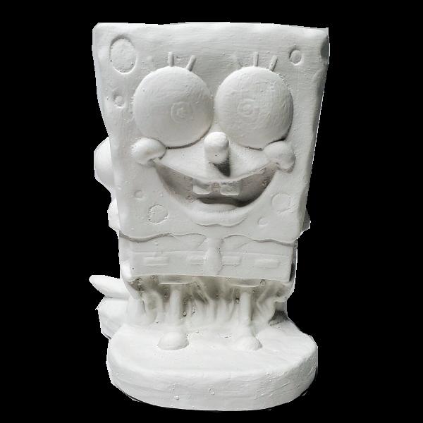 Plaster Paint Squareman Statue