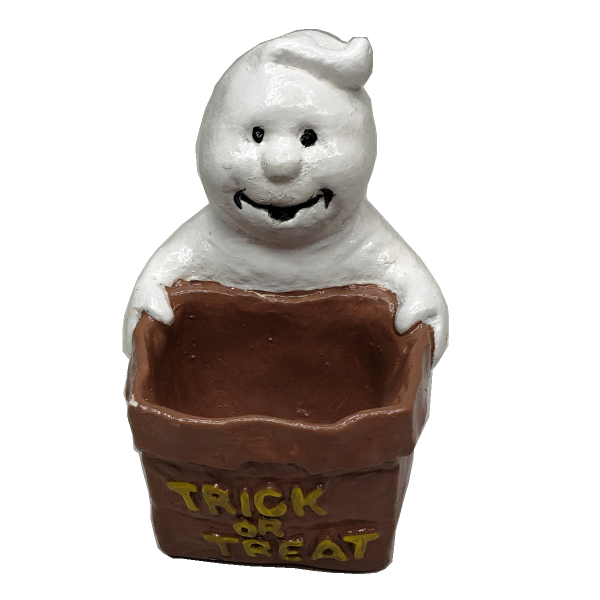 Trick or Treat Ghost Figurine Painted