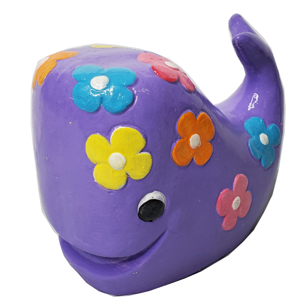 Groovy Whale Statue Painted