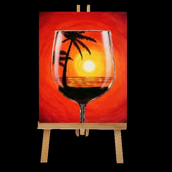 Wine Glass Canvas Art