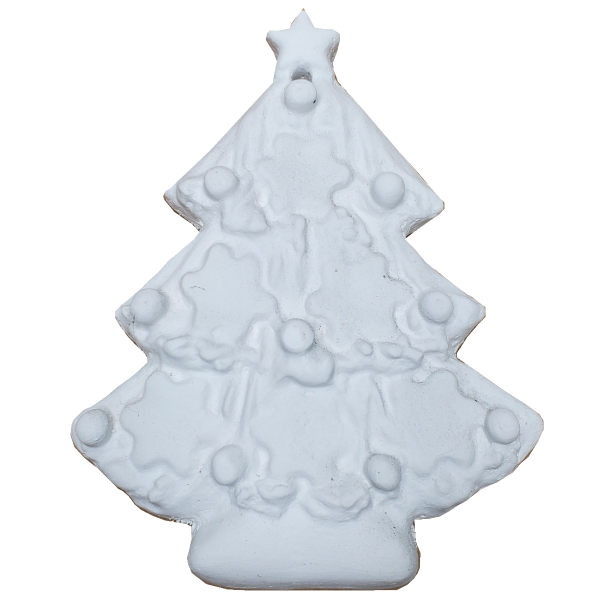 Plaster Paint Christmas Tree Ornament