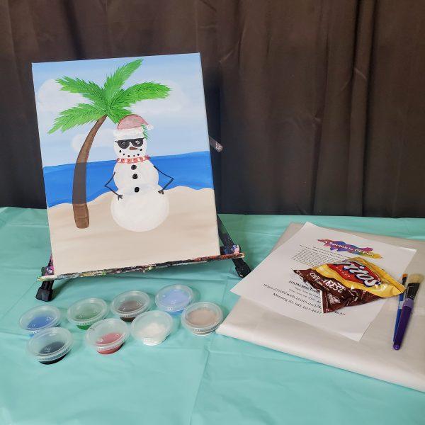 Summer Snowman Canvas Paint Kit