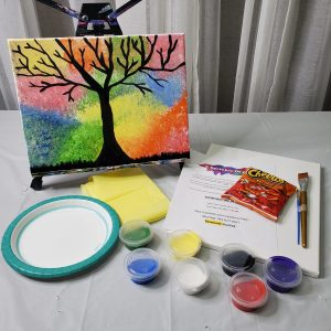 Tissue Paper Canvas Art Kit