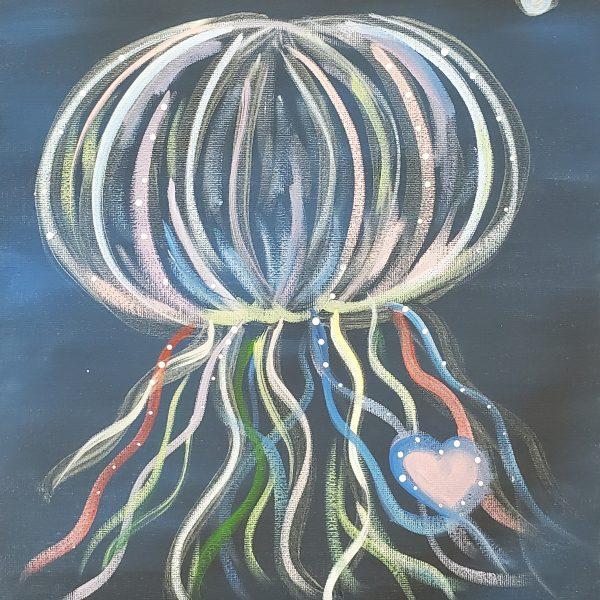 Glow in Dark Jellyfish Canvas Art
