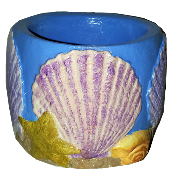 Seashell Cup Painted