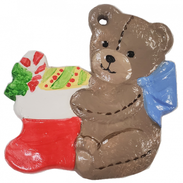 Tedd Bear Christmas Ornament
