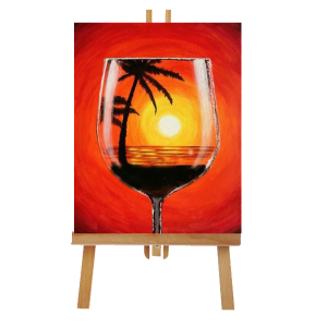 Wine Glass Canvas Paint Kit