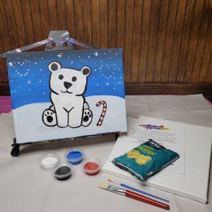 Polar Bear Canvas Paint Lesson