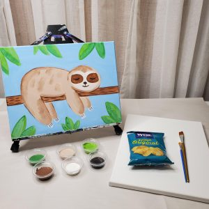 Sloth Canvas Painting Lesson