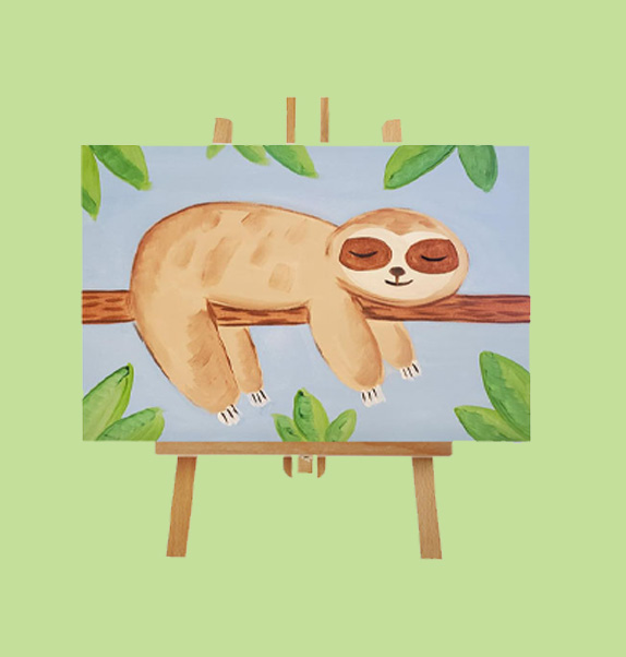 Sloth Canvas Painting
