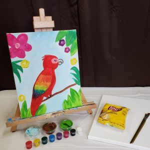 Parrot Canvas Painting Lesson