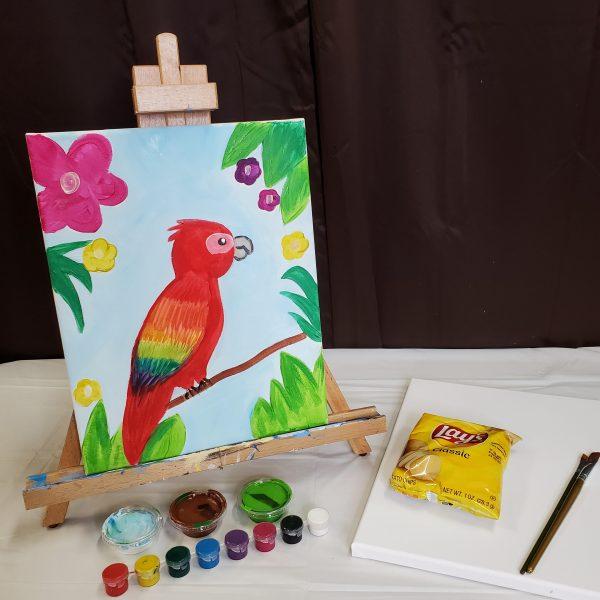 Parrot Canvas Painting Lesson