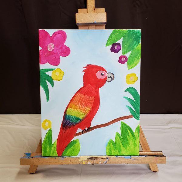 Parrot Canvas Painting