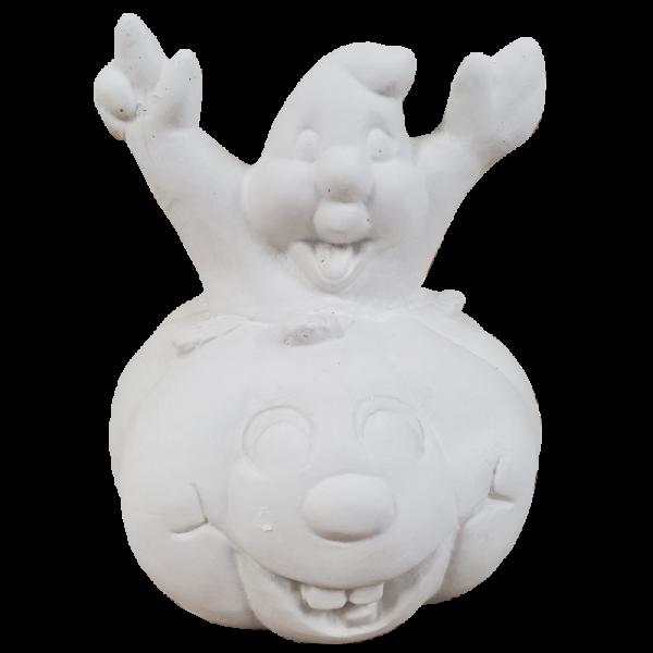 Ghost Jack O Lantern Plaster Paint Statue Kit